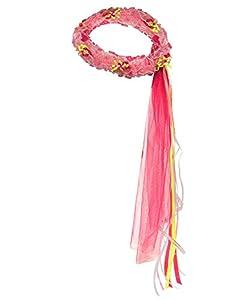 DREAMY DRESS-UPS 50378-Rosa con Flores Corona (Talla única)