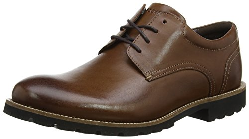 Rockport Herren Modern Break Plaintoe Derby Schuhe Braun (Brown Leather)