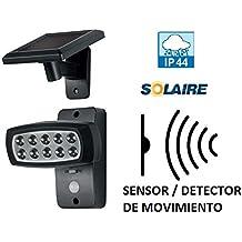 FOCO REFLECTOR SOLAR DE LUZ DE LED EXTERIOR CON SENSOR DE MOVIMIENTO LUZ ILUMINAR