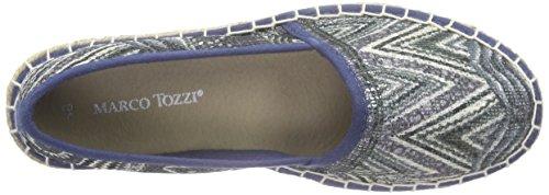 Marco Tozzi 24203, Mocassins Femme Bleu (Denim Comb 853)