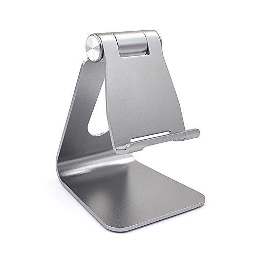 REYTID Premium-verstellbare solide Aluminium-Legierung Handyhalter für iPhone, Samsung, HTC, Sony, LG, Huawei und mehr! Smartphone-Stand Desktop-Mount Schlafzimmer Mobile tragbare Aufnahmeschale - Cup Desk Laptop Holder