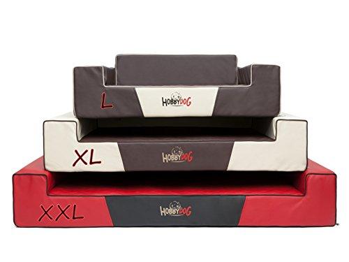 Hobbydog XXLGLABRA2 Hundebett / Sofa / Korb Glamour Kunstleder, Kodura, braun, XXL, 120 x 80 x 28 cm - 5