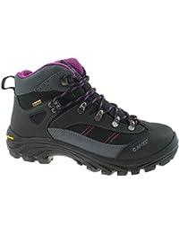Hi Tec Florencia Mujer Botas de Paseo Senderismo Zapatos Gris, Gris, 6