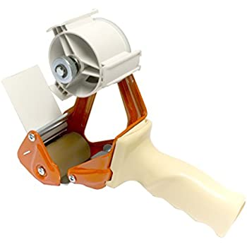 Magazzino,Forniture per ufficio 75 mm Pistola a Nastro Ottimo per Imballaggio di Pacchi e Scatole in Cartone Arancione Prosun Dispenser Nastro Adesivo con Maniglia