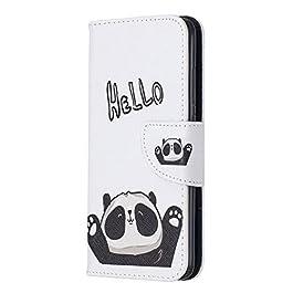 Docrax Xiaomi Redmi 7A Leather Cover, Custodia Portafoglio in Pelle Porta Carte Funzione di Stand Antiurto Wallet Case…