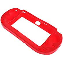 FNT Non-slip Silicone Skin Case Cover For Sony PlayStation PS Vita PSV Game Console Red