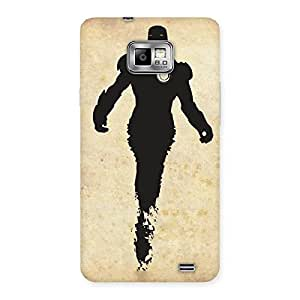 Black Genius Back Case Cover for Galaxy S2