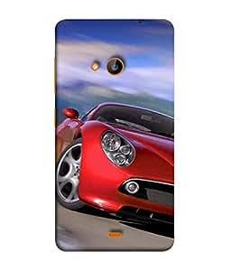 PrintVisa Designer Back Case Cover for Nokia Lumia 730 Dual SIM :: Nokia Lumia 730 Dual SIM RM-1040 (Race Cars Fancy Winner compitation)