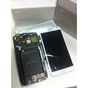 Ecran LCD Vitre Tactile Blanche Samsung Galaxy NOTE 2 complet - N7100