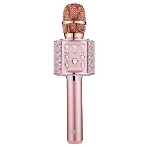 1byone Karaoke Mikrofon, 4-in-1 Kabellos Bluetooth tragbarer Karaoke-Player mit Lautsprecher und Bluetooth 4.2 für Android & iOS und PCs, tragbares KTV-Musikgerät für Heim- und Outdoor Parties