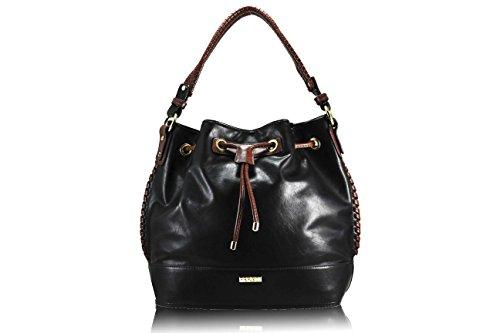 FERETI borsa Nero e marrone a tracolla donna