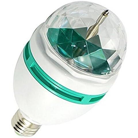 Gosear-Todo Color Cristal Giratoria Bulbo de la etapa Bombilla LED Lámpara de iluminación Para el partido de DJ de discoteca