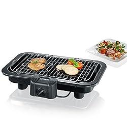 SEVERIN PG 2790 Barbecue-Grill (2.500W, Tischgrill, Grillfläche (41 x 26cm)) schwarz