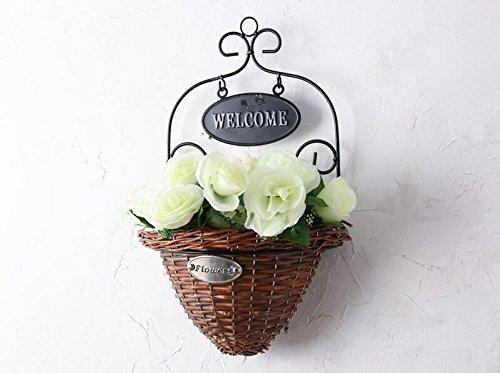 Lx.AZ.Kx Wandhalterung an der Wand Dekoration Eisen Blumenkörbe Emulation Blume, die Florale Dekoration der Blume Geschäfte an der Wand Dekorationen Homej, Klein