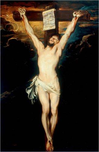 Alu Dibond 60 x 90 cm: Christus am Kreuz von Anthonis van Dyck / akg-images