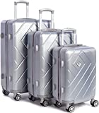 Best Set valigie - Set Valigie antigraffio, 3 pezzi   Blocco con Review