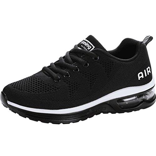Dexuntong Unisex Bequem Schnürer Sportschuhe Sneaker Atmungsaktiv Gym Fitness Turnschuhe Leichtgewicht Laufschuhe Air Running Shoes