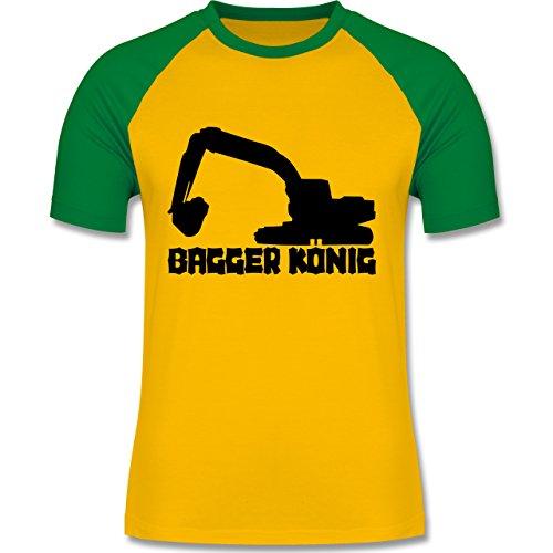 Andere Fahrzeuge - Bagger König - zweifarbiges Baseballshirt für Männer Gelb/Grün