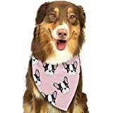 Hipiyoled Pet Bandanas Cute Cartoon Dog Puppies Adjustbable Collars Pet Bandana Bibs for Puppy Cats