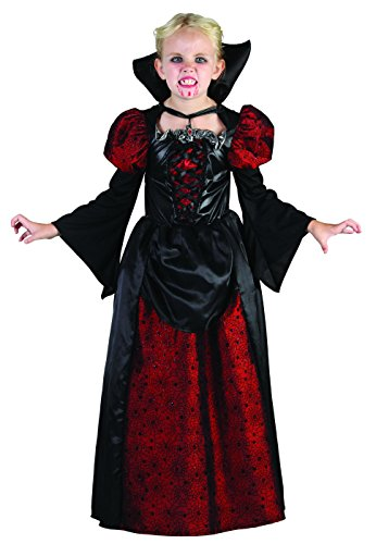 KINDERKOSTÜM - VAMPIR MÄDCHEN - Größe 120/130 (Dracula Kostüm Mädchen)