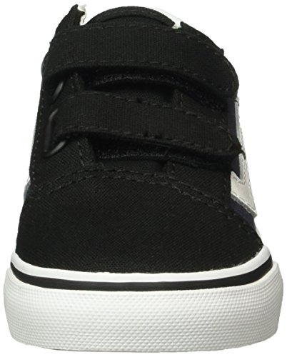 Vans Unisex Baby Old Skool V Lauflernschuhe Schwarz (Pop black/parisian night)