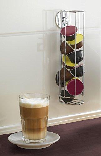 WENKO TurboLOC Kapselhalter für DOLCE GUSTO Kaffeekapseln - OHNE BOHREN - Kapselspender -...