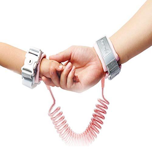 Kinder Kinderleine Sicherheitsleine Leine Für-2.0 Kinder Leine Handgelenk, Anti-verloren Gürtel Handgelenk Link (Pink)