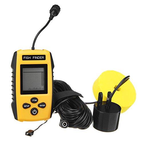 DyNamic 100M Portable Sonar Sensor Fish Finder Lcd Blue Color Screen Intelligent 200Khz Portable Sonar