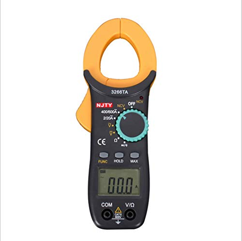 ER-JI Digital-Multimeter Handheld-Großbild-Anti-Burning-Clamp Tragbares Multimeter Power Meter Tester Power Clamp Meter