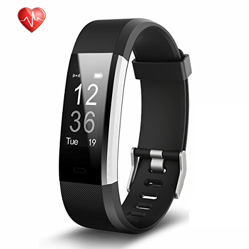 TwobeFit Fitness Tracker Heart Rate Monitor Activity Tracker Waterproof Smart Bracelet Bluetooth Wireless Pedometer Wristband Sleep Monitor Smartwatch for Android and iOS Smartphones