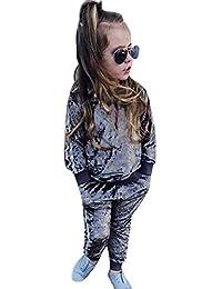 beautyjourney Conjunto de Trajes de Deporte para bebés, Sudadera Pullover de Color Sólido de Manga Larga de Chicas Niños + Pantalones Ropa para niños Traje de Dos Piezas