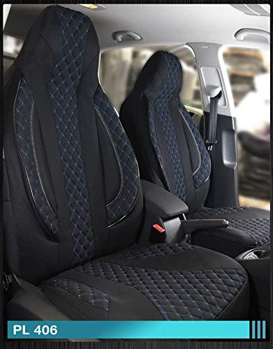 Maß Sitzbezüge Ford Focus 1 Fahrer & Beifahrer ab BJ 1998-2004 Farbnummer: PL406 - Ford 1998 Sitzbezug