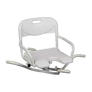 Behrend Badewannensitz Extra, Wannensitz Badesitz, drehbar, Rücklehne, Hygieneausschnitt