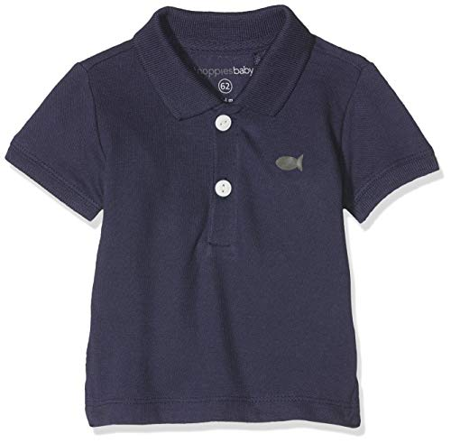 Noppies Baby-Jungen B Polo Solid ss Riverside Poloshirt, Blau (Patriot Blue P017), 80 Baby-polo