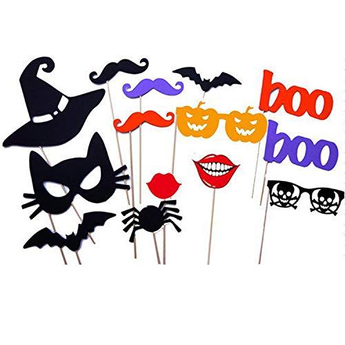 DMMASH 14 Stück DIY Halloween Photo Booth Requisiten Auf Sticks Party Fun
