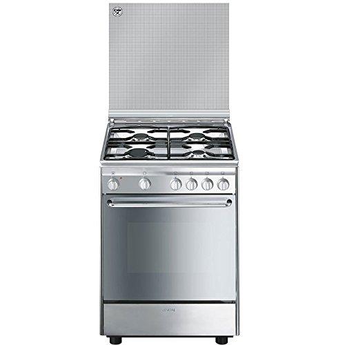 Smeg CX6SV9 Libera installazione Piano cottura a gas A Acciaio inossidabile cucina