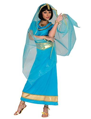 faschingskostueme bollywood Kostüm Inderin Sharada Größe 48/50 Damen Tänzerin Bollywood Asien Schleier Kleid Blau Gold Orient Karneval Fasching Pierro's