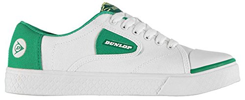 mens-retro-style-canvas-green-flash-shoes-trainers-10-44-white-green