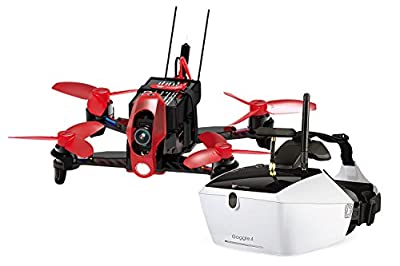 Walkera 15004150V4–Racing Rodeo 110RTF FPV Drone Quadcopter with HD Camera FPV Goggle Video Glasses with Battery, Charger and Devo 7Transmitter by Walkera
