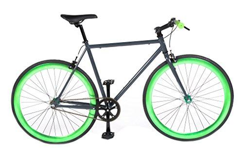vilano-rampage-fixed-gear-fixie-single-speed-road-bikegrey-green-54cm