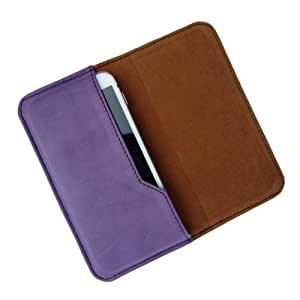 i-KitPit : PU Leather Flip Pouch Case Cover For Lava Xolo q1000 / A1000 (PURPLE)