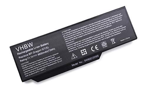 vhbw Li-Ion Akku für Medion Akoya E8410, P7610, P8610, P8611, P8612, P8614 Notebook Laptop wie BP-Dragon GT(S), 40019327, MIM2070 - (6600mAh, 11.1V)