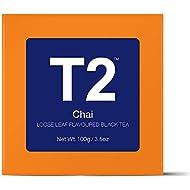 T2 Tea Chai Loose Leaf Spiced Black Tea in Gift Cube, 100 g