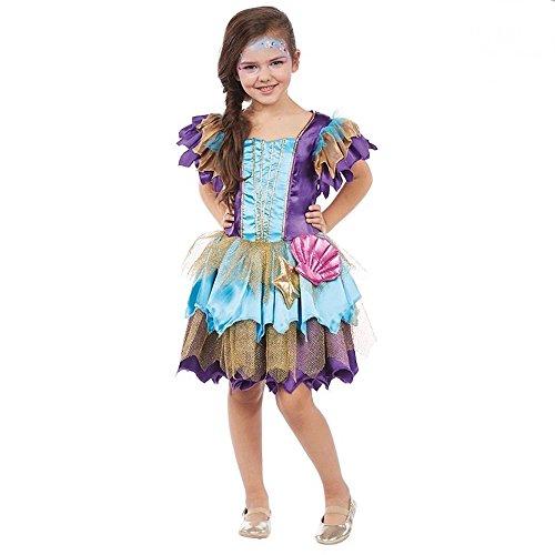 (shoperama Meerjungfrau Alana Deluxe Kostüm für Mädchen Kinderkostüm Arielle Kinder Kleid, Kindergröße:128)