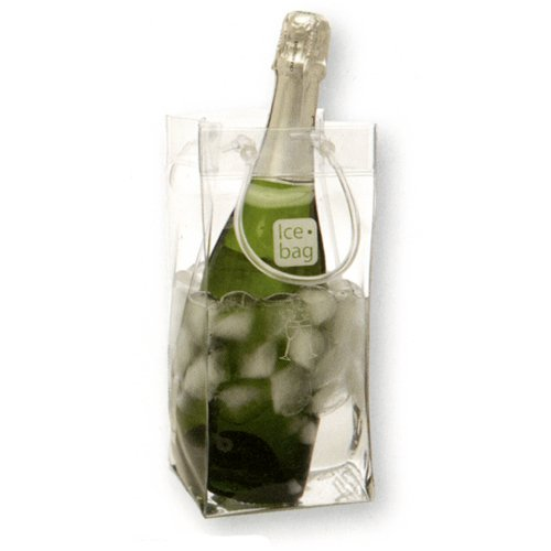 Ice Bag - Seau a Glace rafraichisseur Ice Bag - Sac Porte Bouteille pliable - Transparent