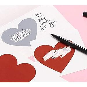 50 PREMIUM Rubbelkarten HERZ SILBER Rubbel Etiketten in Herzform 5 x 5 cm – silber Rubbelaufkleber für deine perfekte…