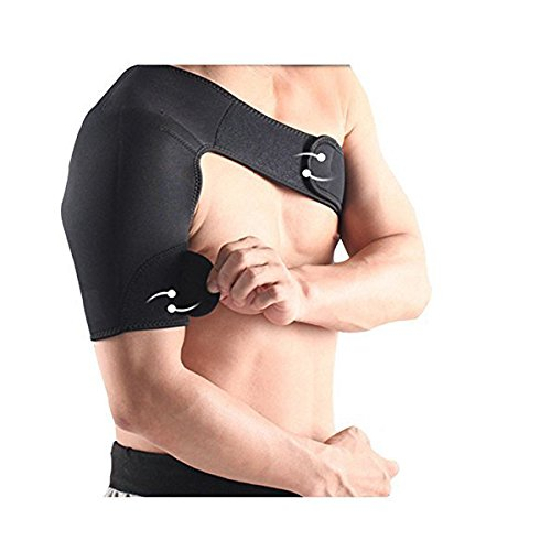 Fitness Guru Adjustable Neoprene Right Shoulder Support Brace Strap Wrap Belt Band Pad Arthritis, Gym, Sports, Brace, Pain Relief, Injury Prevention