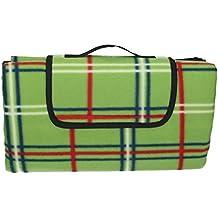 Betz Manta para picnic viaje playa camping resistente al agua tamaño 130x150 cm esterilla colchoneta de color verde
