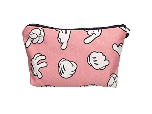 Beauty Case, borsa da viaggio, borsetta da toilette sacco sacchetto bagno per cosmetici trucco make up motivi diversi, Kosmetiktasche KT-002-050:KT-025 dito
