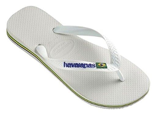 Havaianas Brasil Logo Citrus Yellow 4110850, Infradito Unisex – Adulto Bianco